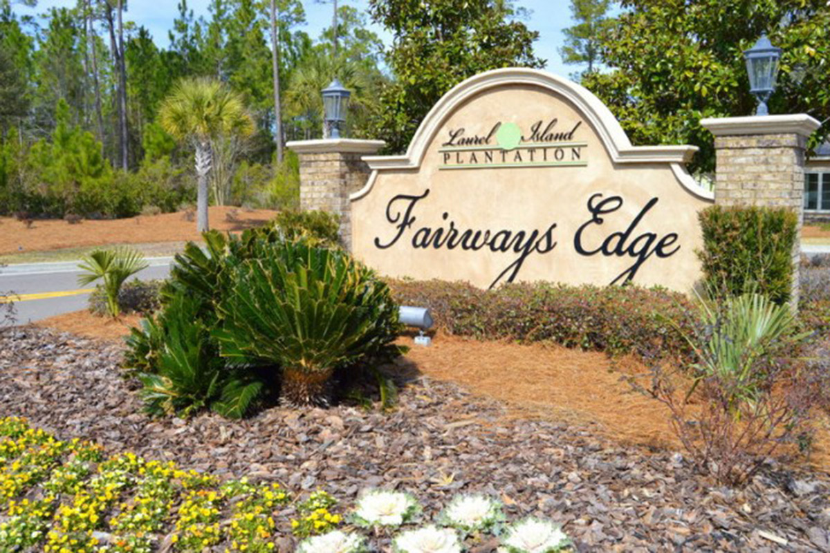 Fairways Edge - Neighborhood Sign